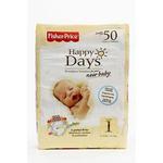 费雪快乐之日新生儿婴儿日用纸尿裤1号50片装