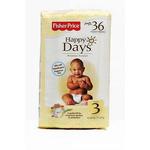 费雪快乐之日新生儿婴儿日用纸尿裤3号36片装