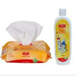 NUK奶瓶清洁液+婴儿湿巾