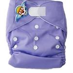 婴秀纯色魔术贴布尿裤(紫色)
