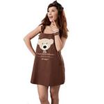 添香防辐射孕妇装防辐射服可爱熊宝宝装60384咖啡色L