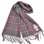 恒源羊绒羊毛加厚保暖男士长围巾礼盒装SFBX180-84红灰色