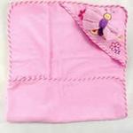 安香态卡通包头浴巾搓澡组-粉色