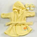 安香态浴袍拖鞋组合-黄色