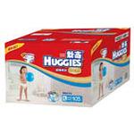好奇金装超薄柔软透气纸尿裤箱装加大号105片