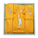 花儿开天鹅绒披风被精品礼盒8101/黄色88*105cm