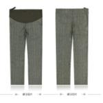 LOVESMAMA新款孕妇装秋装韩版时尚棉羊毛托腹西裤96170咖啡色M
