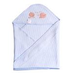花儿开空气棉抱毯7220(蓝色73*73cm)