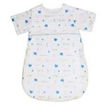睡王动物乐园纱布有袖婴幼儿宝宝睡袋蓝色半袖款45*70CM