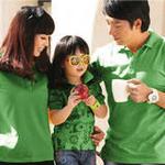 爱湾绿色时尚卡通图案印花短袖POLO衫女装XL码