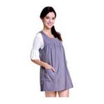 优加百分之五十彩色银纤维防电磁辐射月牙领孕妇裙YF020紫罗兰L