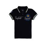 加菲猫女童POLO领短袖T恤GTWD35205海兰130