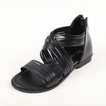 兔仔唛TUZAMA大女童新款罗马水钻公主凉鞋黑色31码