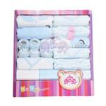 贝衣贝四季通用款纯棉婴儿十五件套宝宝大礼盒蓝色