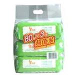 玲瑶婴儿柔湿巾(手口专用)80片*3