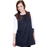 优加百分之三十金属纤维孕妇防辐射服-两侧可调式双袋丝带衫YJ-F005藏青L