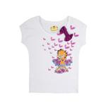 加菲猫女童针织挽袖T恤GTWE055401亮丽白160