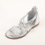 兔仔唛TUZAMA大女童新款罗马水钻公主凉鞋银色33码