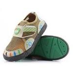 哈利宝贝春夏新款男女童鞋透气网格软底鞋B268棕色25码/150mm