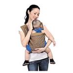 袋鼠仔仔时尚蝴蝶型婴儿背袋DS6861卡其