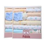 小富兰克 夏季新款 夏季必备16件套新生儿礼盒 男宝宝 均码