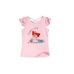 童壹库摩尔系列女童背后交叉绑带短袖T恤MTWF035201甜美粉130