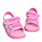 新款阿迪达斯/adidas女童夏季婴童凉鞋V21630深粉/亮白130