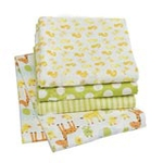 FLUREBABY法兰绒高密度多功能婴儿抱毯四条装70*70cm女