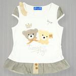 红蜻蜓闲暇时光系列短袖T恤52720422白色/140