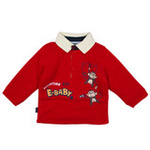 E-baby如意宝贝探险小英雄保暖polo衫E115156大红/90