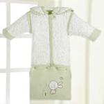 睡王花花小兔宝宝针织棉成长款婴幼儿睡袋(绿色)