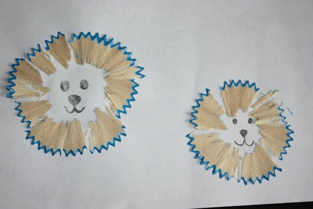 铅笔屑粘贴画图幼儿
