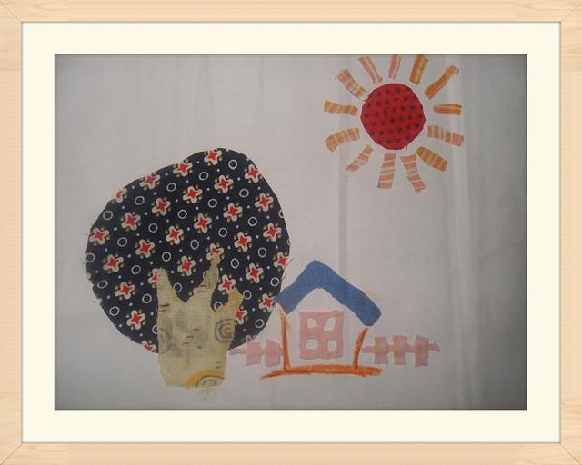 树叶布剪贴画-粘贴画