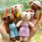 小熊一家玩偶