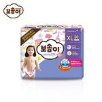宝松怡BOSOMI婴儿裤型纸尿裤 加大号XL30片女 韩国原装进口