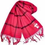 恒源羊绒羊毛加厚保暖男士长围巾礼盒装SFBX180-82黑红色